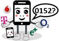 0152 Anbieter, Netz und Vorwahl
