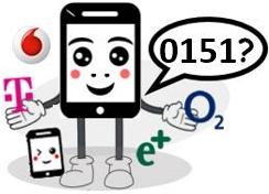 0151 Anbieter, Netz und Vorwahl