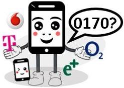 0170 Anbieter, Netz und Vorwahl