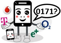 0171 Anbieter, Netz und Vorwahl