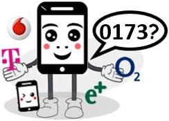 0173 Anbieter, Netz und Vorwahl