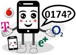 0174 Anbieter, Netz und Vorwahl