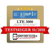 Simply LTE 3000 Test Ergebnis